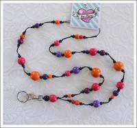 Avainkaulanauha, pinkki/violetti/oranssi/musta