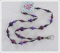 Avainkaulanauha, violetti/musta