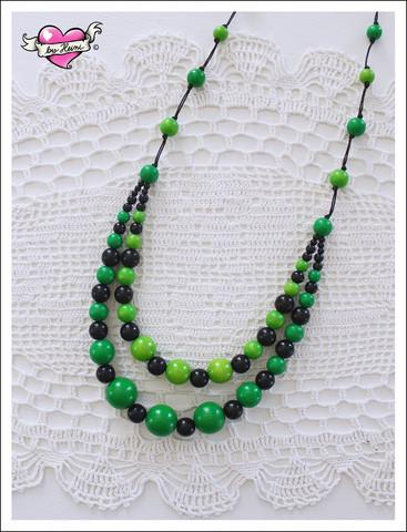 Tuplapuuhelmet, vihreä/musta