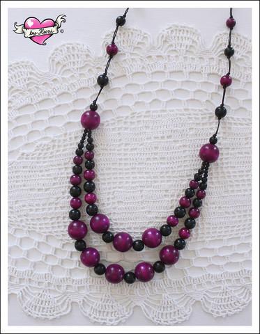 Tuplapuuhelmet, violetti/musta