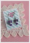 Rusetti-korvakorut, tumma violetti