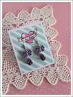 Rusetti-korvakorut, violetti