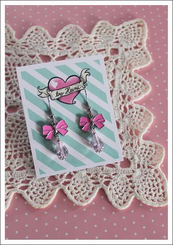 Rusetti-korvakorut, pinkki