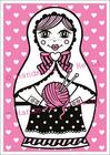 Maatuska Kässämuija -postikortti, pinkki