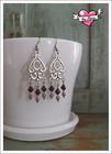 Lyydia-helmikorvakorut, violetti/lila