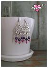 Lyydia-helmikorvakorut, violetti/pinkki