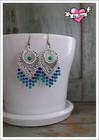 Maria-helmikorvakorut, sininen/vihreä