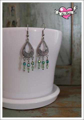 Anna-helmikorvakorut, vihreä