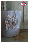 Emilia-helmikorvakorut, antiikkihopea/kirkas