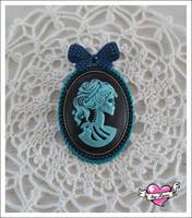 Rintakoru Lady Skull, sininen/musta