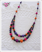 Tuplapuuhelmet, violetti/pinkki/oranssi/musta