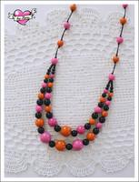 Tuplapuuhelmet, oranssi/pinkki/musta