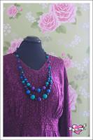 Tuplapuuhelmet, violetti/sininen/turkoosi/musta