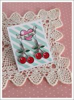 Kirsikka-korvikset, punainen