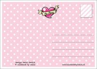 Maatuskaystävät  -postikortti, punainen