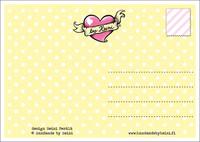 Maatuska Kässämuija -postikortti, sateenkaari