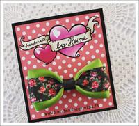 Rusettipinni Pikkuruusut, vihreä/musta