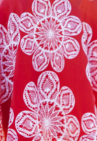 Lace red. Jersey, Orcanic Cotton