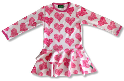 Hearts, Frill dress, jersey