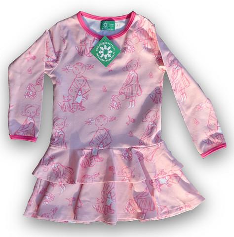 Girls, Frill dress, jersey