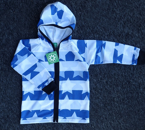Striped Stars Blue Hoodie, Strech college