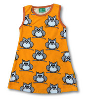 Owl. Sleeveless dress, Strech frotte