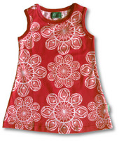 Lace red, sleeveless dress, jersey