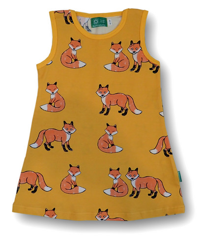 Fox, sleeveless dress, jersey