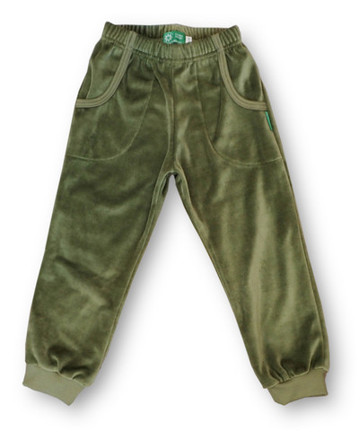 Pants Moss green, Velour