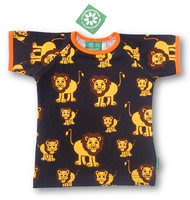 Lion, short sleeve shirt, jersey, orange rib