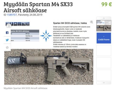 Spartan SSX33-airsoft gun