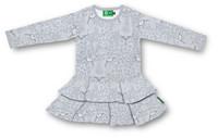 Leopard, Frill dress. Jersey, organic cotton