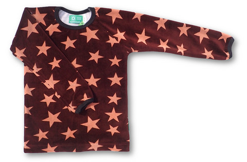 Stars, long sleeve shirt, velour