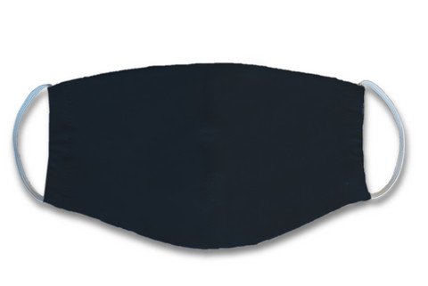 Face mask. Black. Jersey, orcanic cotton