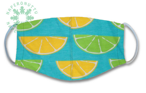 Face mask.  LIme.  Jersey, orcanic cotton