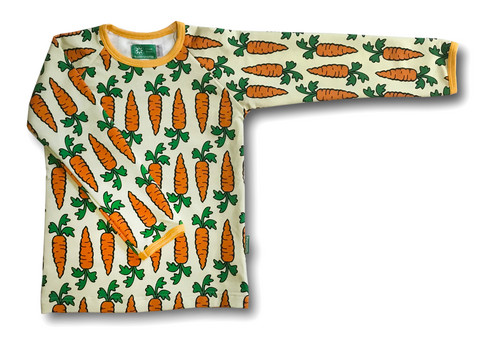 Carrots, long sleeve shirt. College (French terry), organic cotton