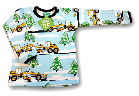 Snowplough, long sleeve shirt. College (French terry), organic cotton