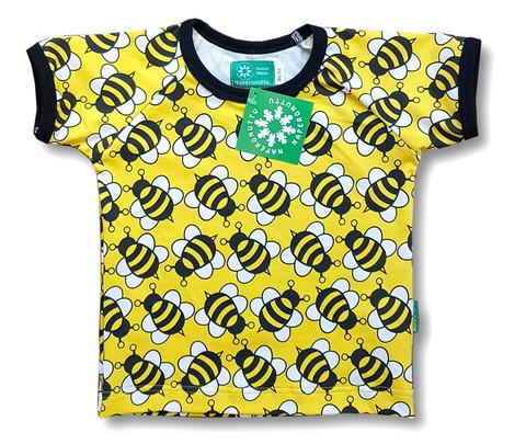 Bee, short sleeve shirt. Jersey, organic cotton