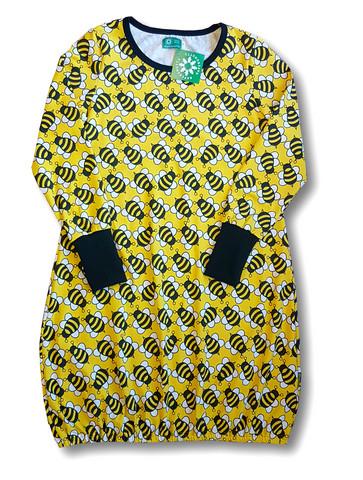Bee, Womens dress. Jersey, organic cotton
