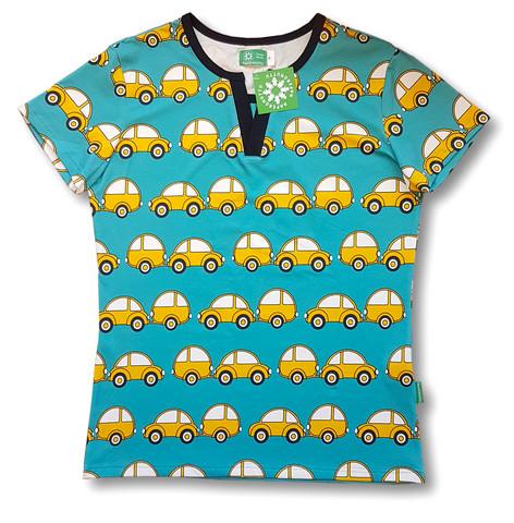 Caravan. adults Ss shirt, V-nec. Jersey, organic cotton