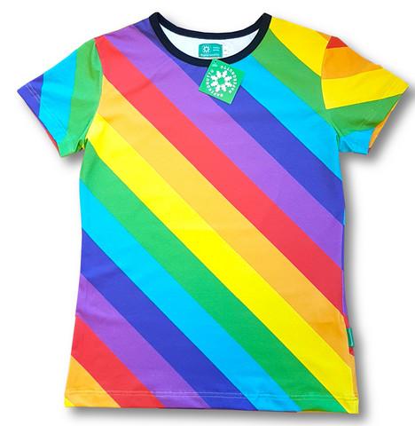 Rainbow. adults Ss shirt. Jersey, organic cotton