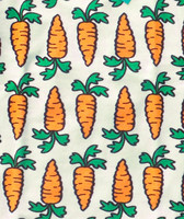 Carrots, Stretch Frotte fabric