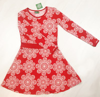 Lace red. Bell dress adults, jersey