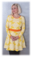 Lace Yellow, Bell dress adults, stretch college