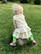 Small hearts, frill dress. Jersey, organic cotton
