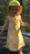 Flower, sleeveless dress, jersey