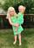 Lime, sleeveless dress. Jersey, organic cotton