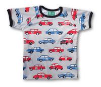 Rally cars. Short sleeve shirt. Jersey, organic cotton