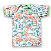 Football. Short sleeve shirt. Jersey, organic cotton