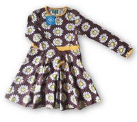 Daisy brown, Bell dress, jersey organic Cotton